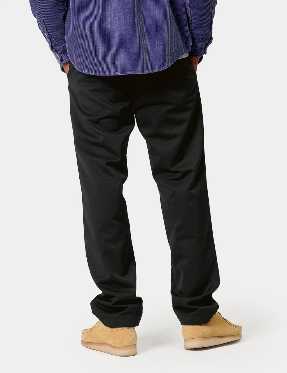 Carhartt-WIP Master Pant (Denison Twill, 8.8 oz) - Black rinsed   Trousers by Carhartt WIP 3