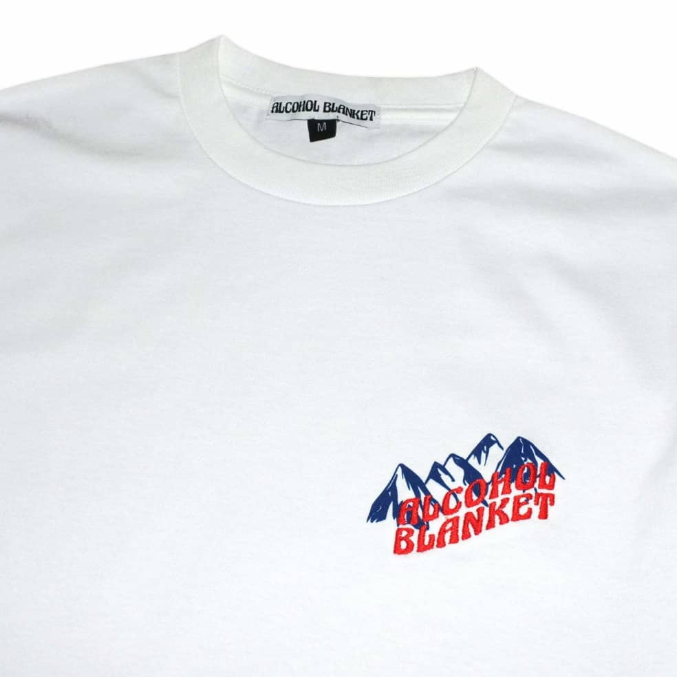 Alcohol Blanket Mountain T-Shirt - White   T-Shirt by Alcohol Blanket 2