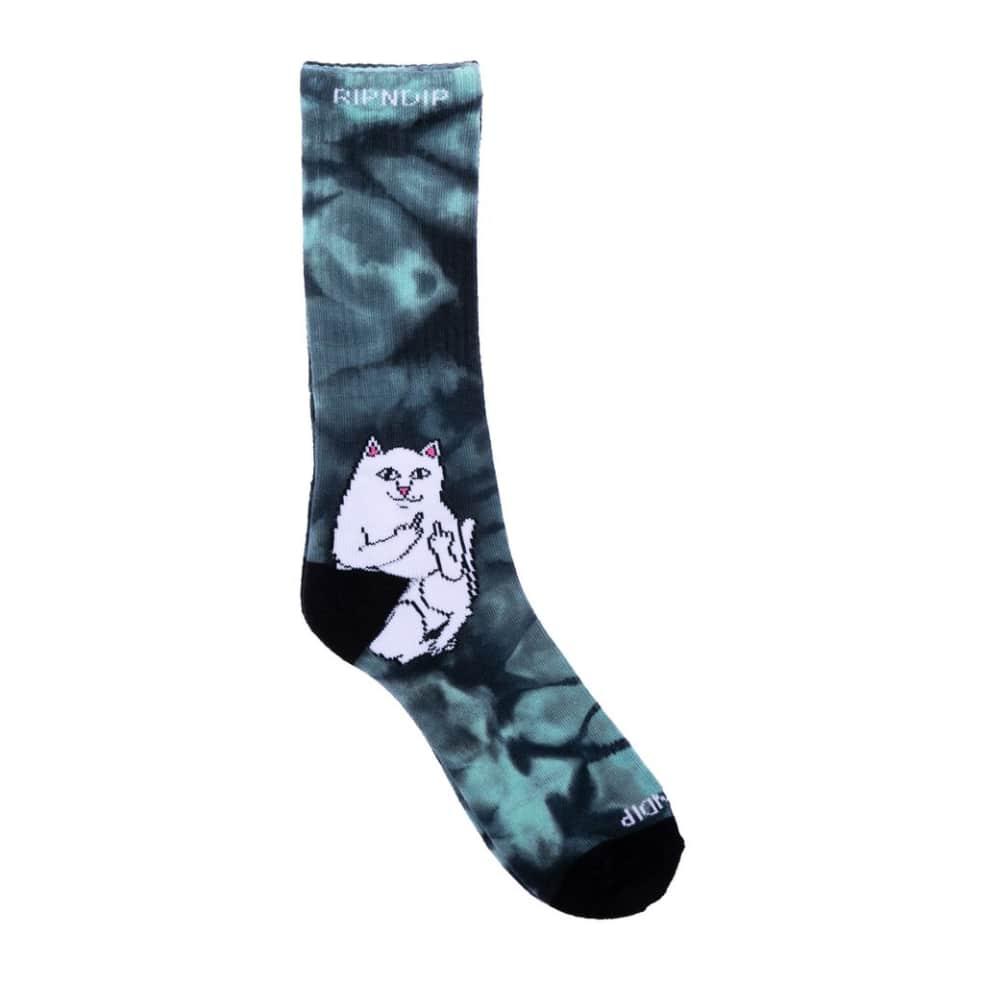 Ripndip Lord Nermal Socks - Green Tie Dye   Socks by Ripndip 1
