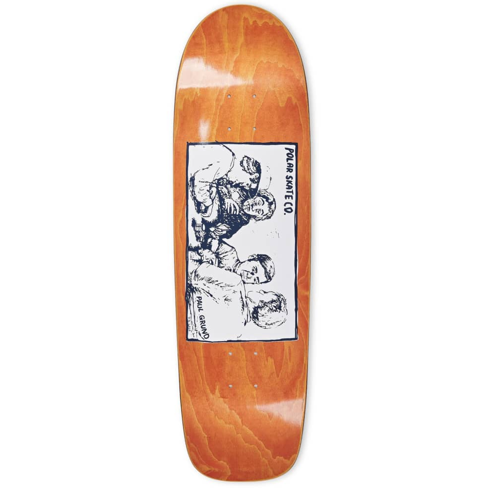 "Polar Paul Grund Cold Streak Surf JR Orange Veneer Skateboard Deck - 8.75"" | Deck by Polar Skate Co 1"