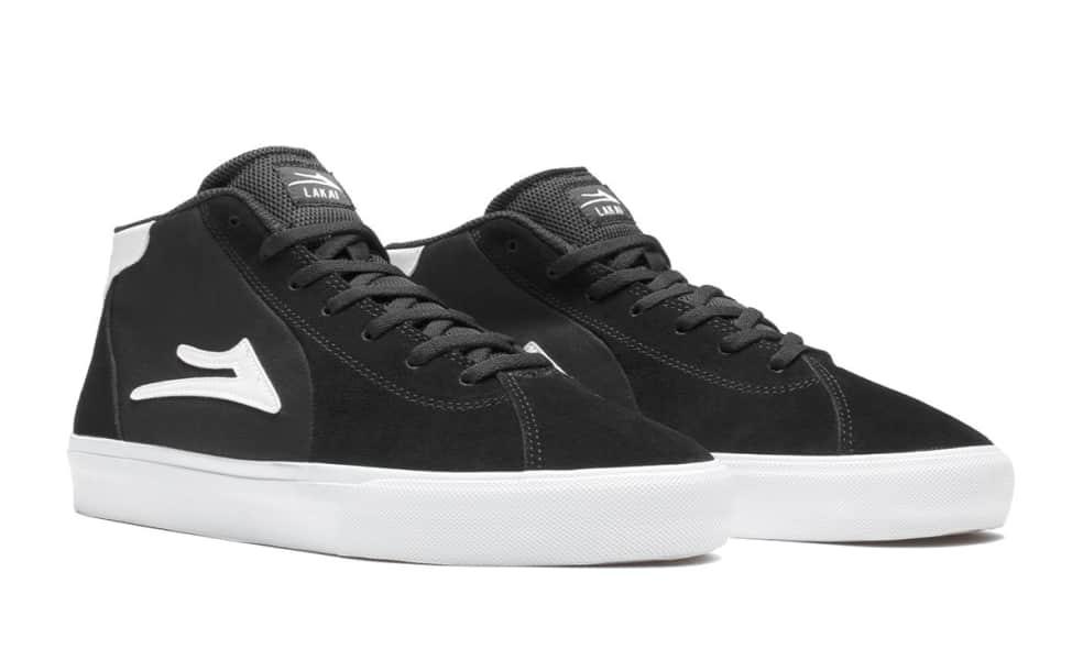 Lakai Flaco 2 Mid Suede Skate Shoes - Black / White   Shoes by Lakai 2