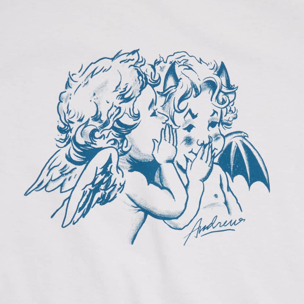 Andrew Good & Evil T-Shirt - Cement | T-Shirt by Andrew 2