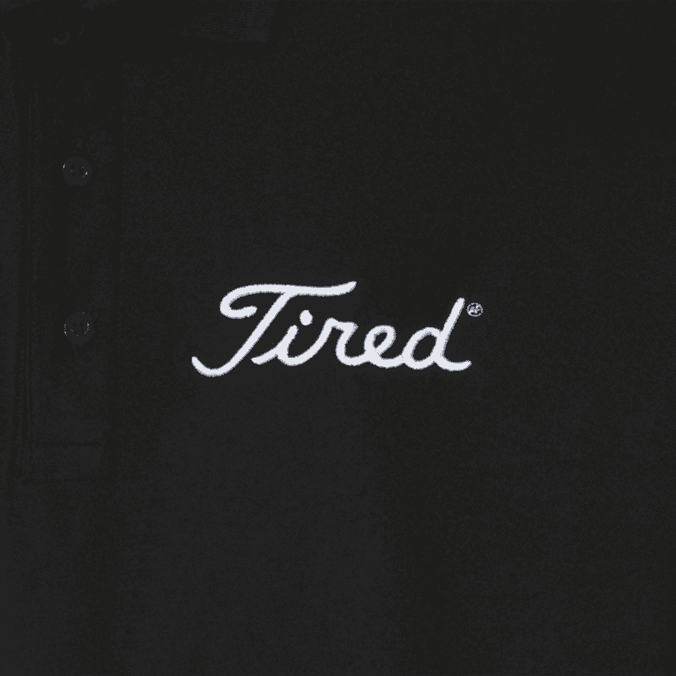 Tired Golf Polo Shirt - Black   Polo Shirt by Tired Skateboards 3