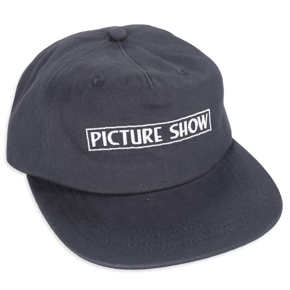 Picture Show VHS Strapback Hat Navy   Baseball Cap by Picture Show Studios 1
