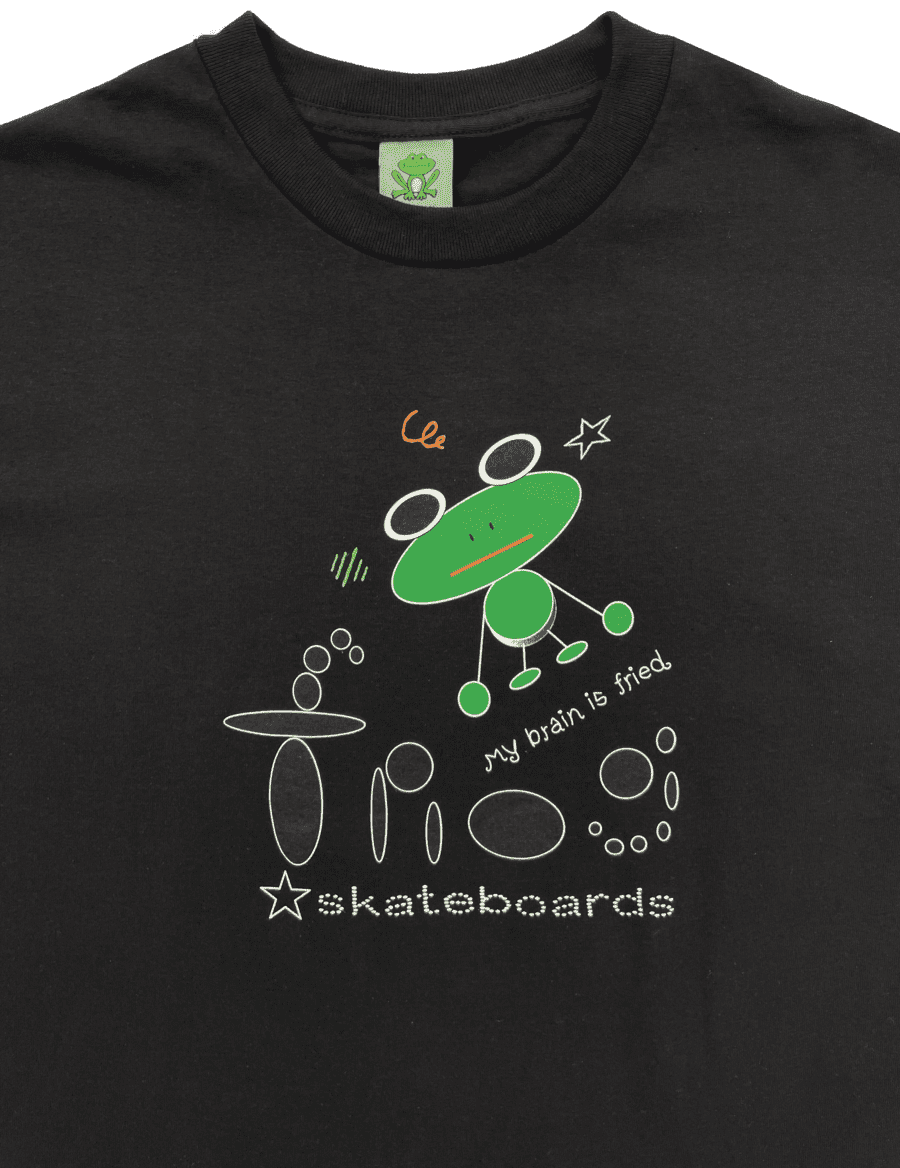 Frog My Brain Is Fried T-Shirt - Black | T-Shirt by Frog Skateboards 2