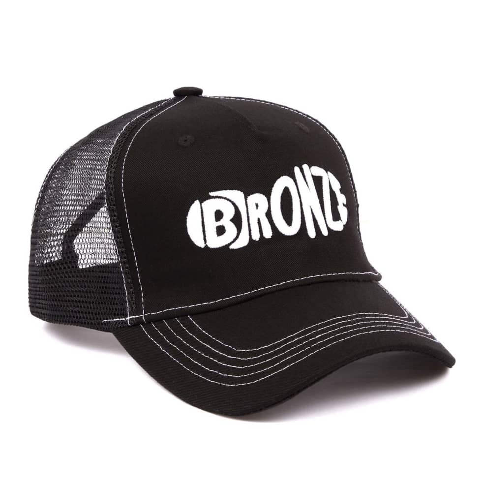 Bronze 56k Footprint Trucker Hat - Black   Trucker Cap by Bronze 56k 1