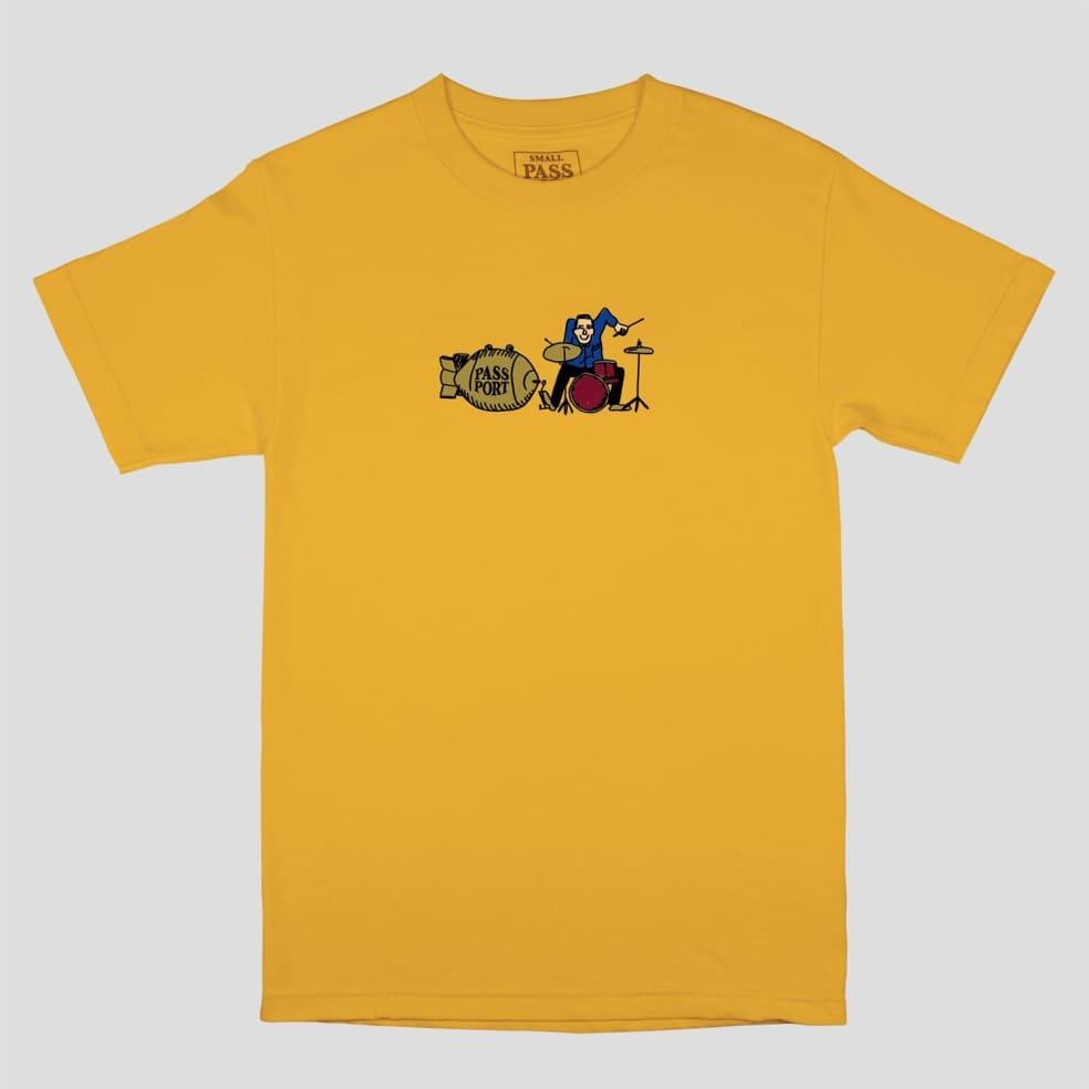 Pass~Port Drum T-Shirt - Gold | T-Shirt by Pass~Port Skateboards 1