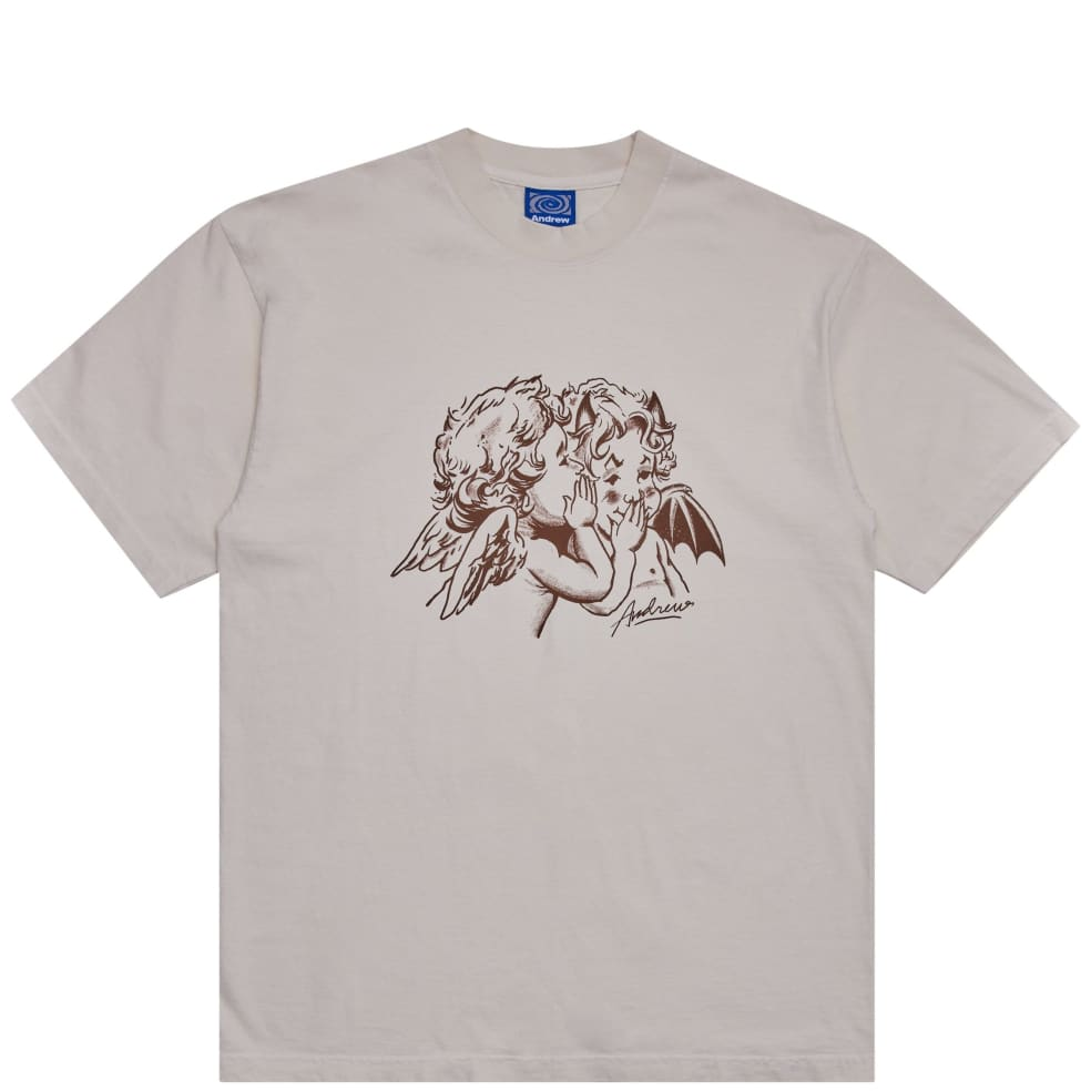 Andrew Good & Evil T-Shirt - Creme   T-Shirt by Andrew 1