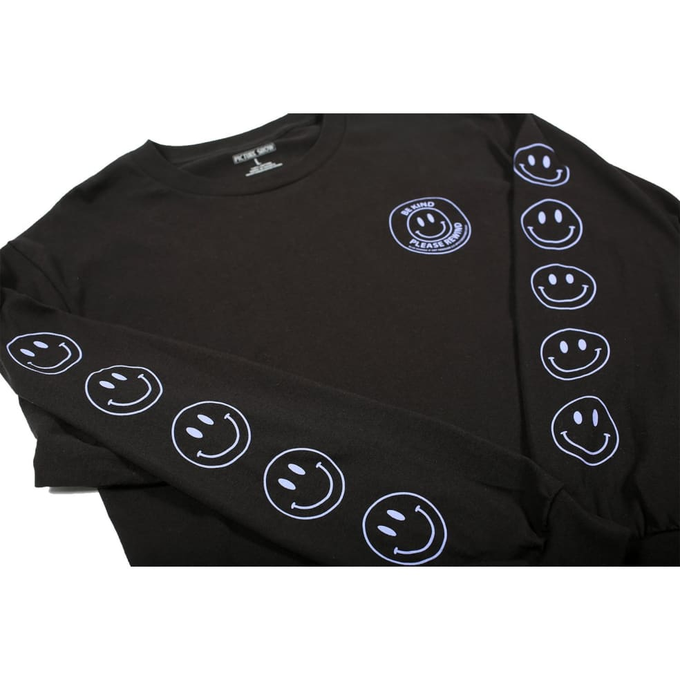 Picture Show Be Kind Long Sleeve Tee Black | Longsleeve by Picture Show Studios 3