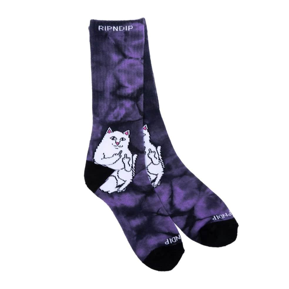 Ripndip Lord Nermal Socks - Lavender Tie Dye   Socks by Ripndip 2