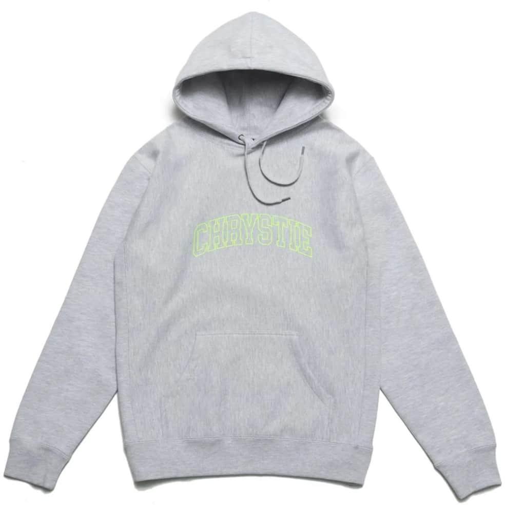 Chrystie NYC Collegiate Logo Pullover Hoodie - Heather Grey   Hoodie by Chrystie NYC 1