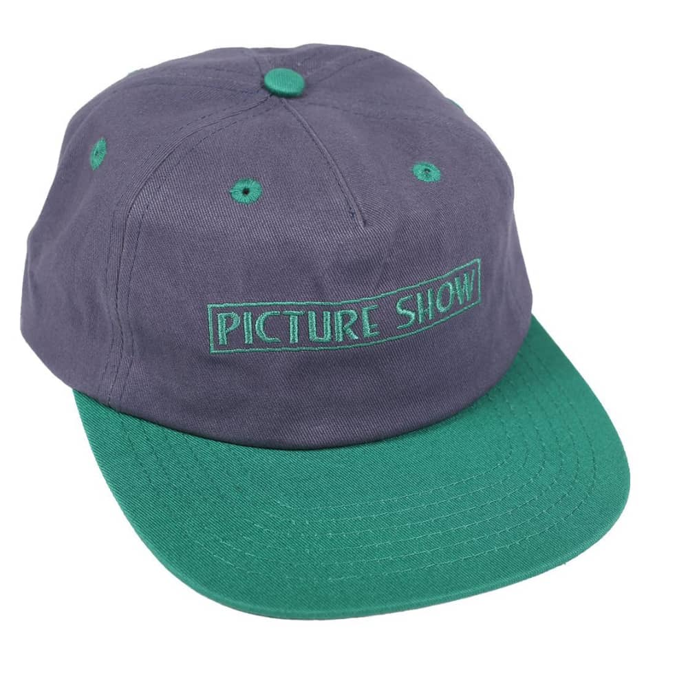 Picture Show VHS Strapback Hat Slate/Jade | Baseball Cap by Picture Show Studios 1