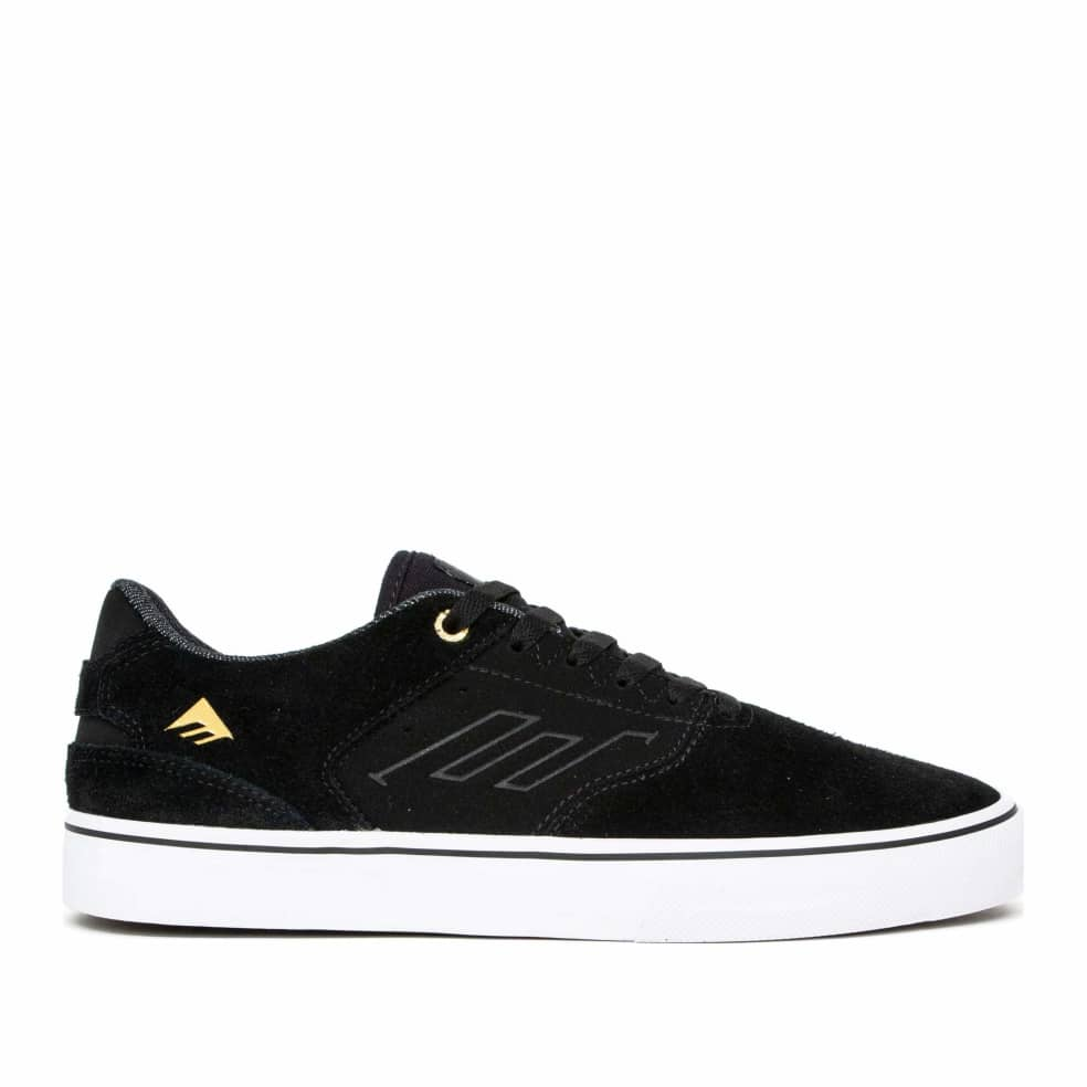 Emerica The Low Vulc Skate Shoes - Black / White / Gold | Shoes by Emerica 1