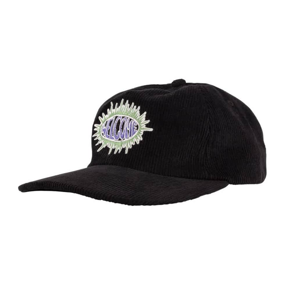 Welcome Burst Cord Cap - Black | Baseball Cap by Welcome Skateboards 1