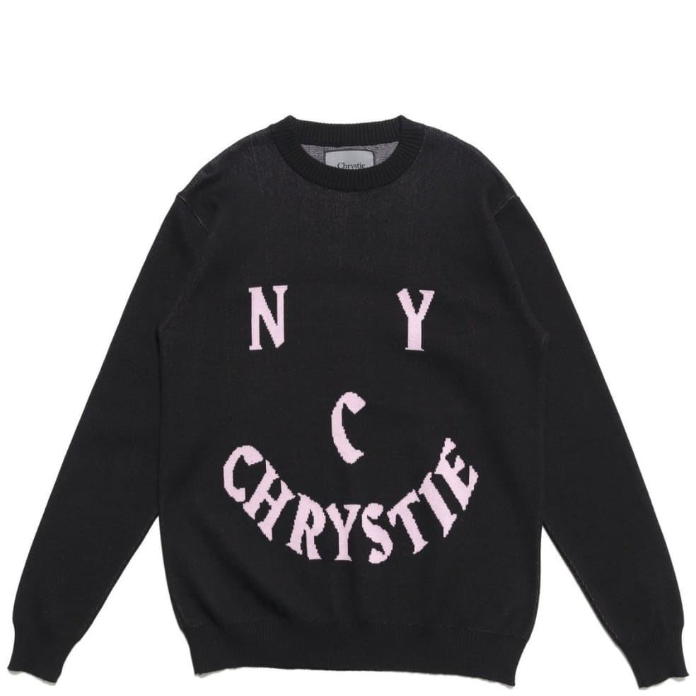 DON'T TAG Chrystie NYC Smile Logo Knit Sweater - Black DON'T TAG | Sweatshirt by Chrystie NYC 2