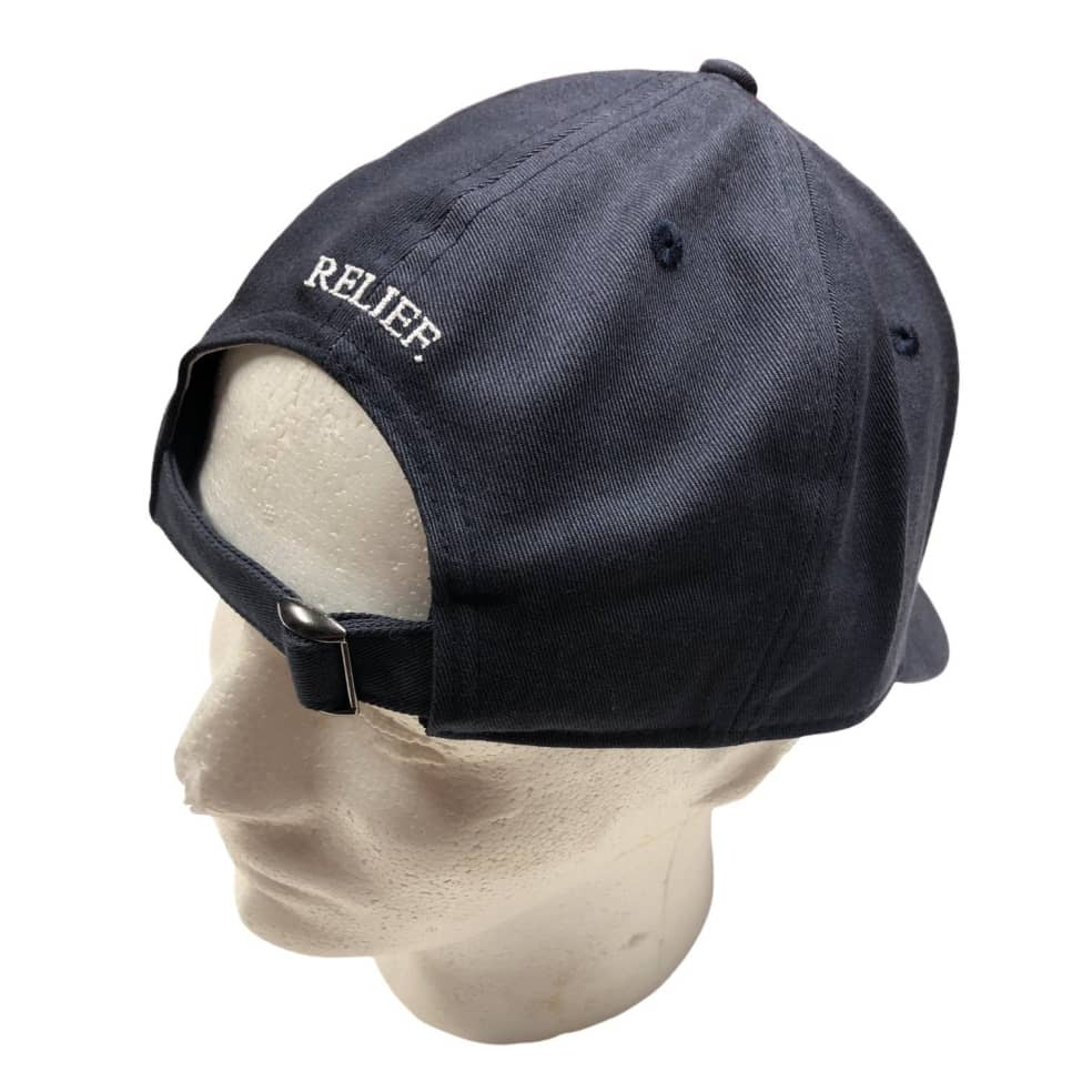 RELIEF RATTLE SNAKE 6 PANEL NAVY   Baseball Cap by Relief Skate Supply 2