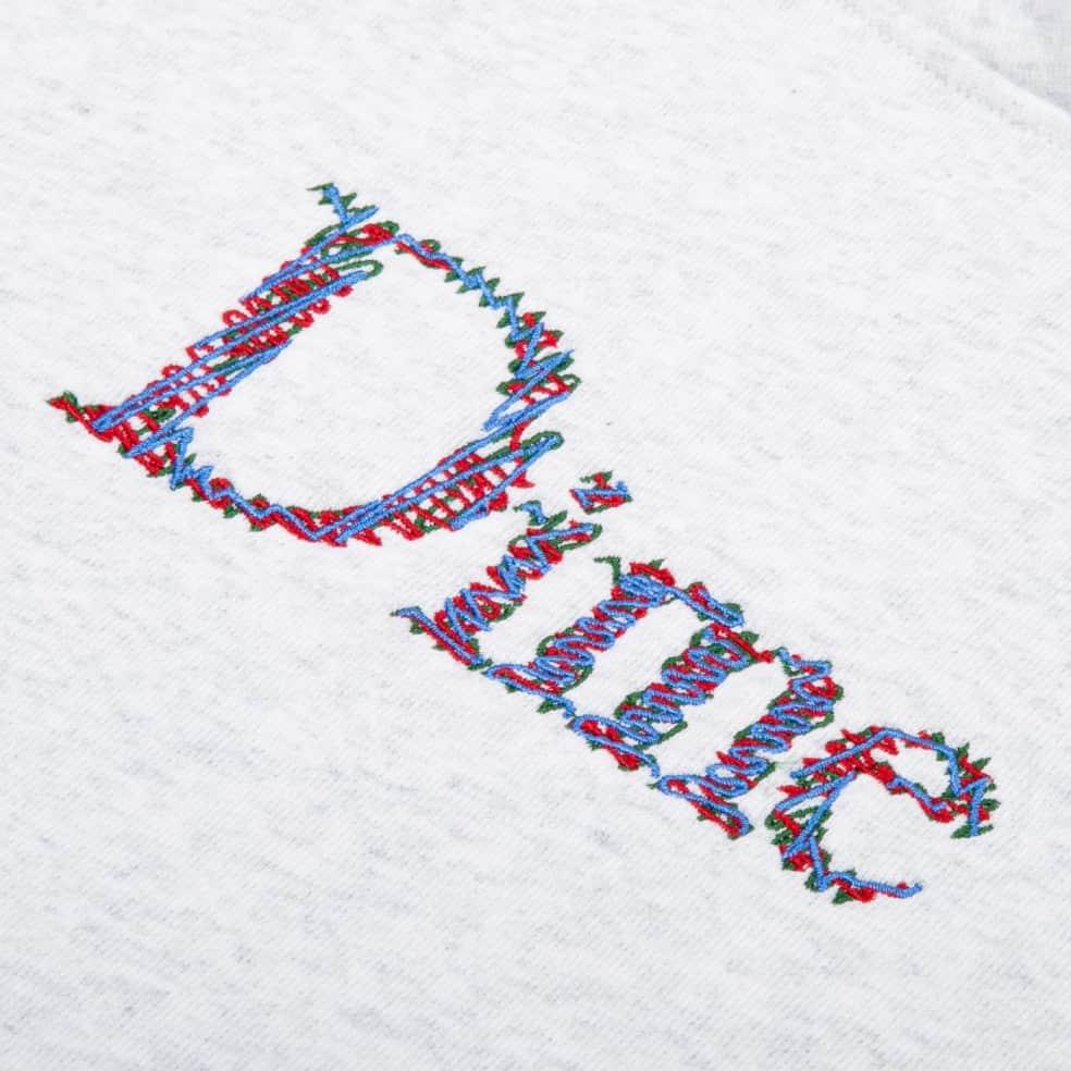 Dime Scribble Classic Logo Hoodie - Ash | Hoodie by Dime 2