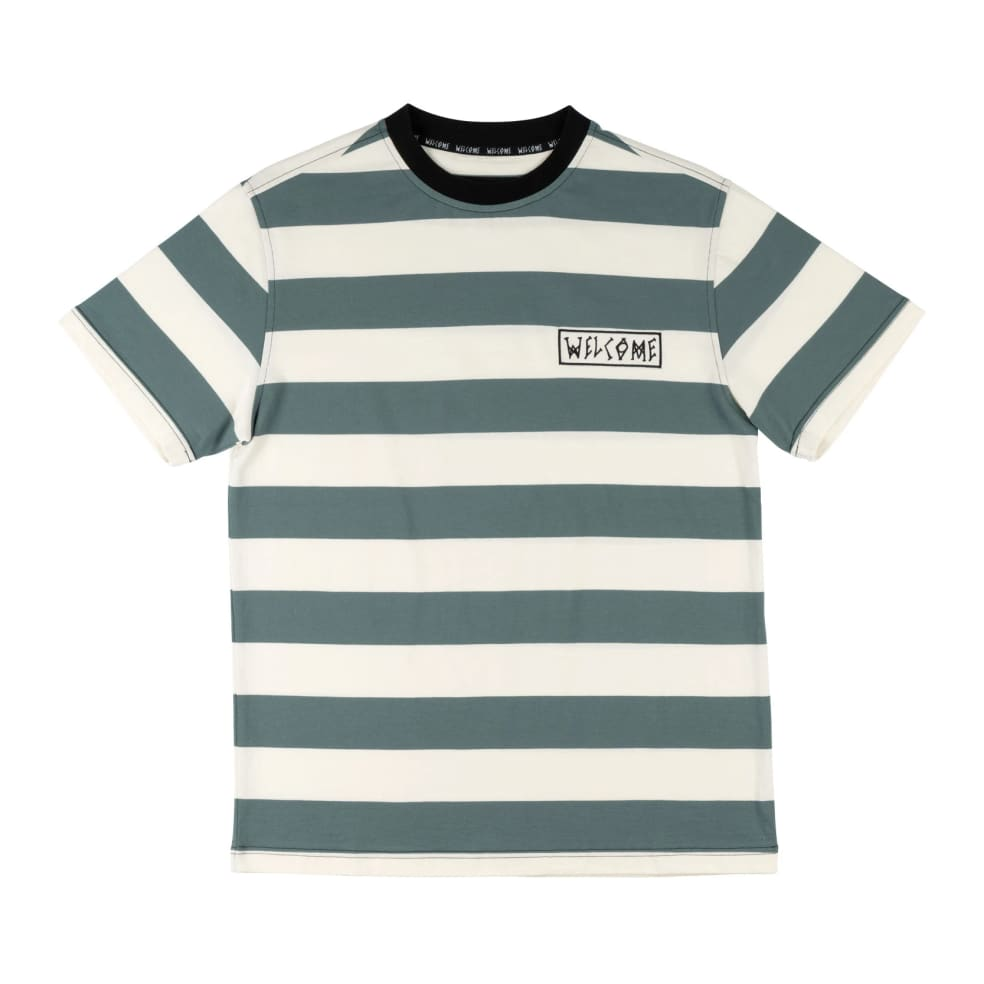 Welcome Thicc Stripe Yarn Dyed Knit Tee   T-Shirt by Welcome Skateboards 1