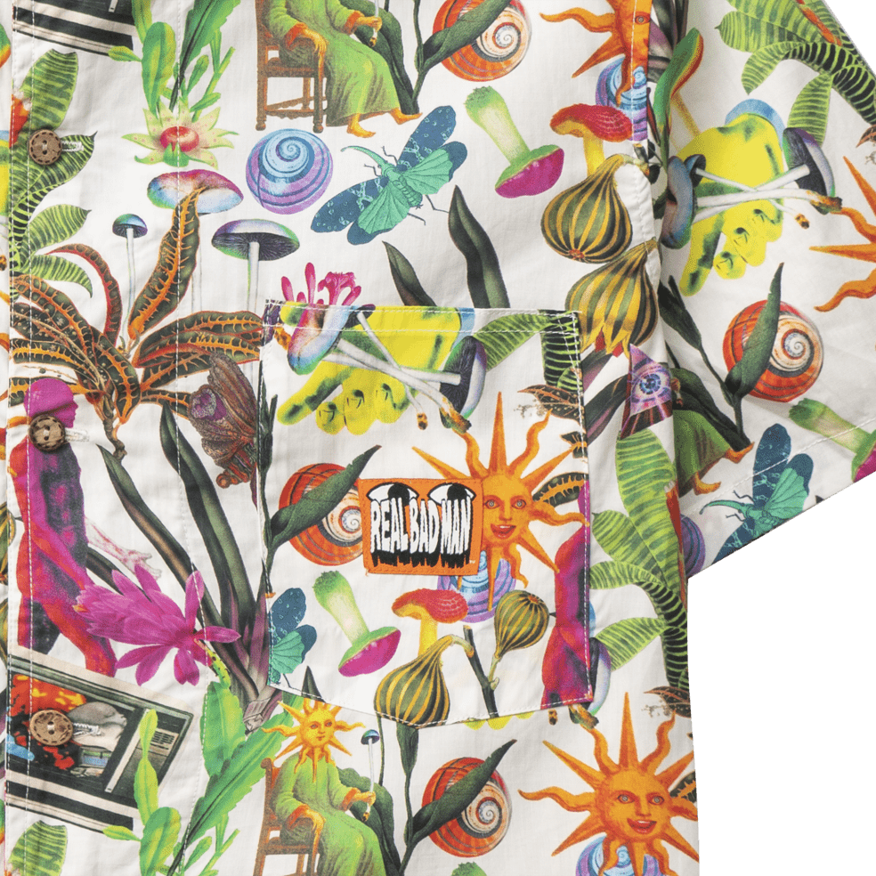 Real Bad Man Psychedelica Vacation Button Down Shirt - Bouquet / Multi   Shirt by Real Bad Man 3