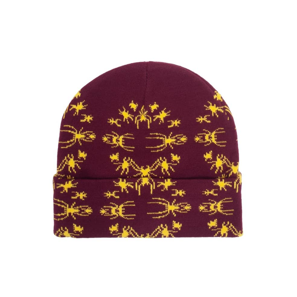 Fucking Awesome Spider Stamp Cuff Beanie - Maroon | Beanie by Fucking Awesome 3
