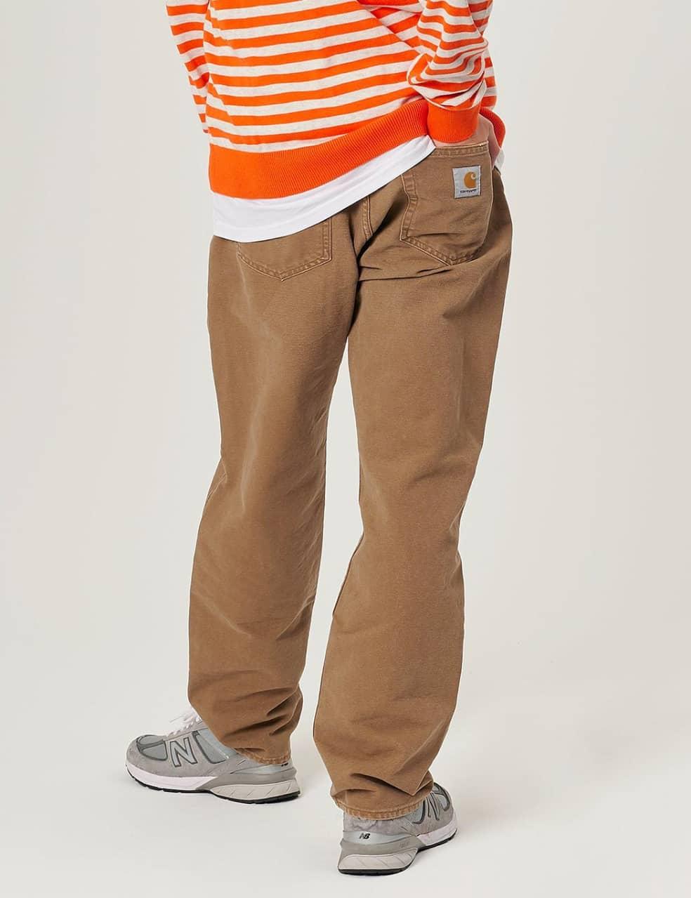 Carhartt-WIP Pontiac Pant - Hamilton Brown aged canvas | Trousers by Carhartt WIP 3
