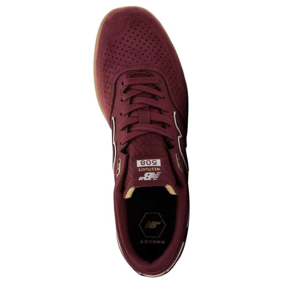 New Balance Numeric 508 Westgate Shoes - Burgundy / White | Shoes by New Balance 3