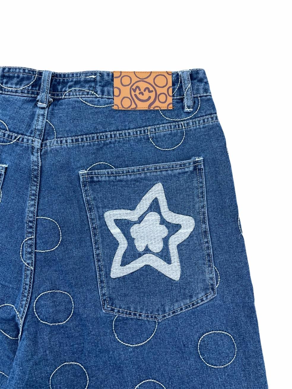 Fideicide Blue Polka Jorts   Shorts by Homies 3