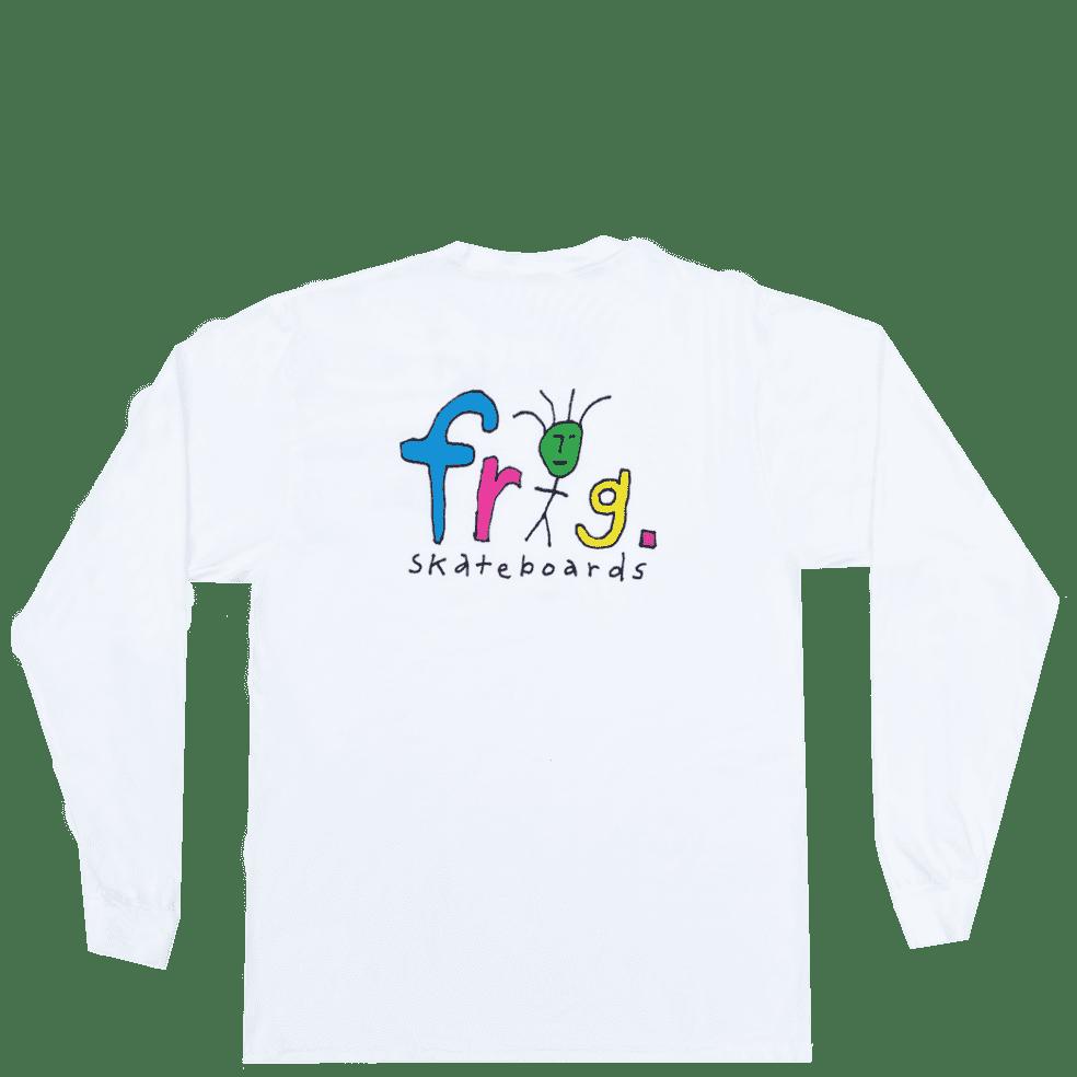 Frog Frog Man Logo Long Sleeve T-Shirt - White | Longsleeve by Frog Skateboards 1