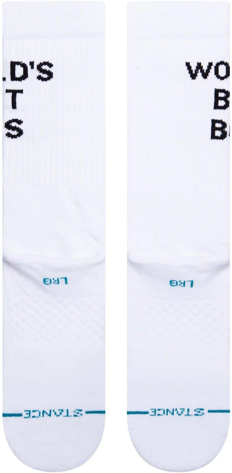 Stance x The Office Worlds' Best Boss Socks - White | Socks by Stance Socks 2