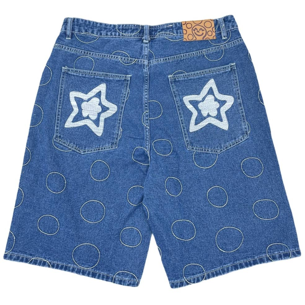 Fideicide Blue Polka Jorts   Shorts by Homies 2