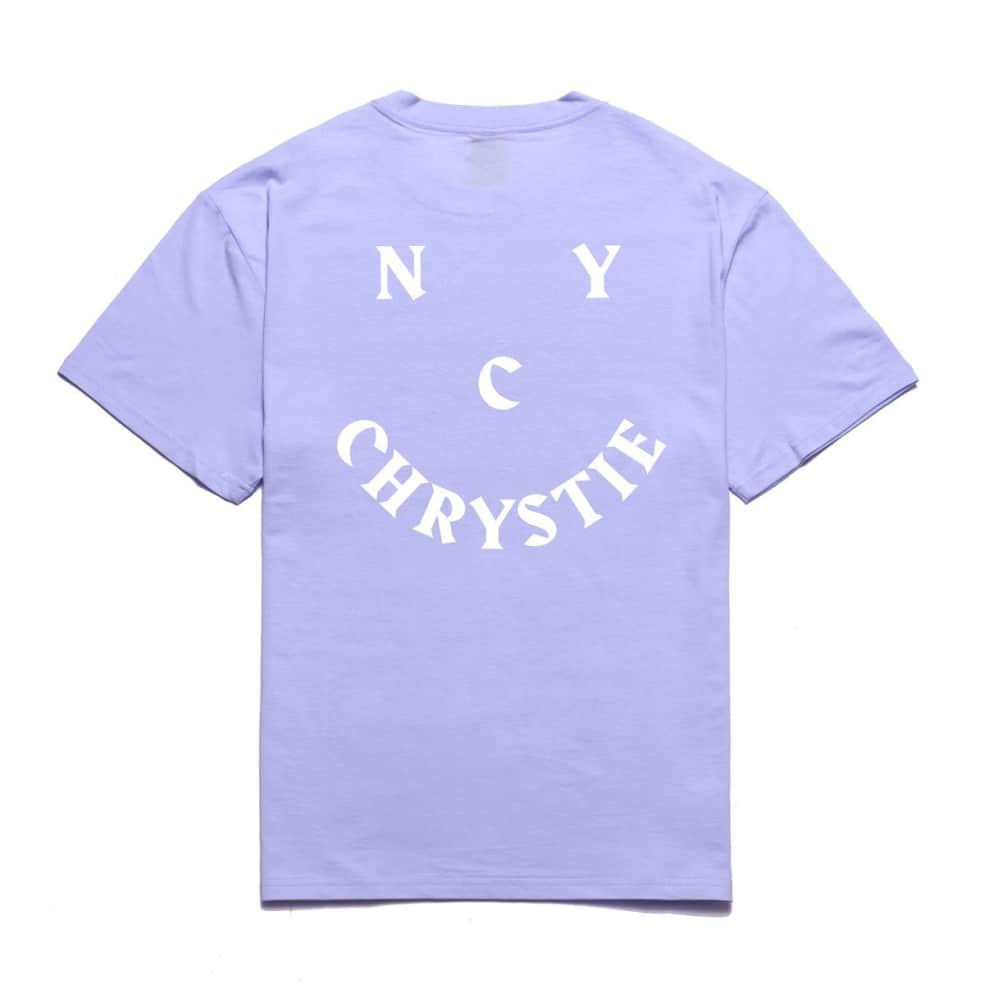 Chrystie NYC Smile Logo T-Shirt - Lavender | T-Shirt by Chrystie NYC 1