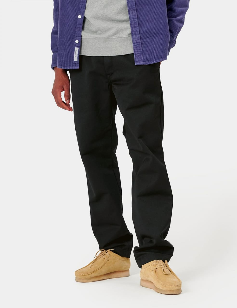 Carhartt-WIP Master Pant (Denison Twill, 8.8 oz) - Black rinsed   Trousers by Carhartt WIP 1