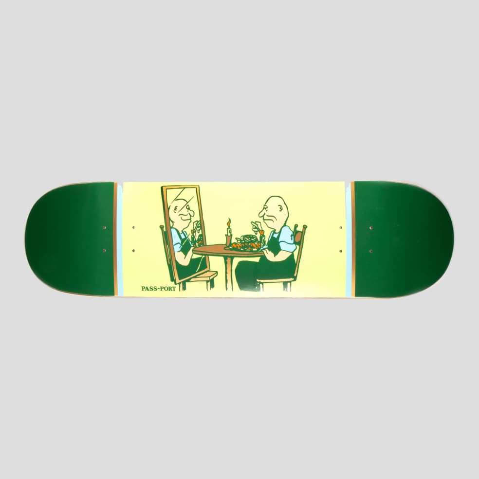 """PASS~PORT """"DINNER FOR ONE"""" UNLUCKY IN LOVE SERIES DECK   Deck by Pass~Port Skateboards 1"""