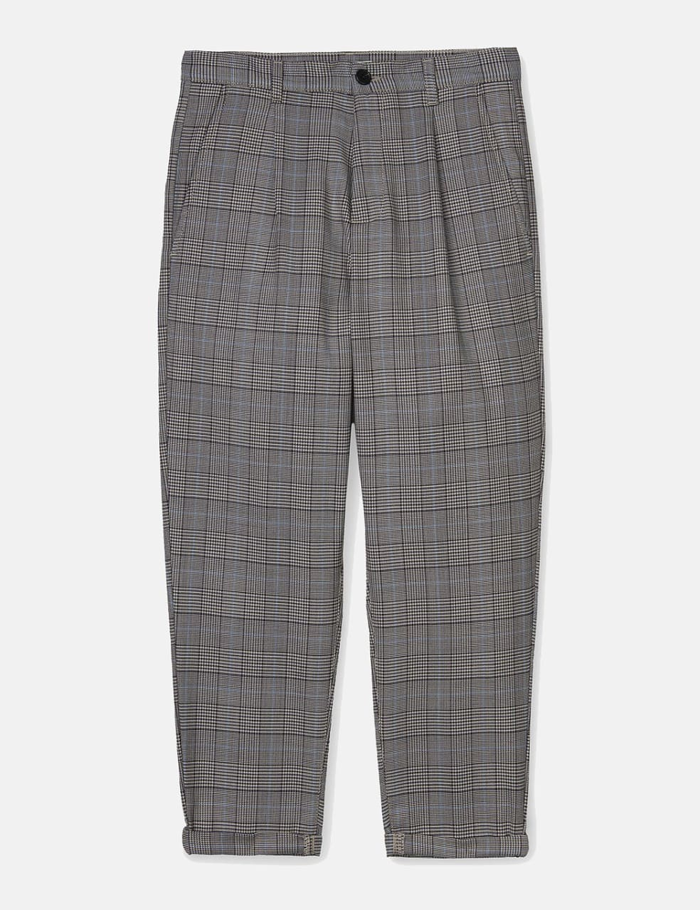 Womens Carhartt-WIP Pullman Ankle Pant - Glencheck Tobacco rigid | Trousers by Carhartt WIP 1