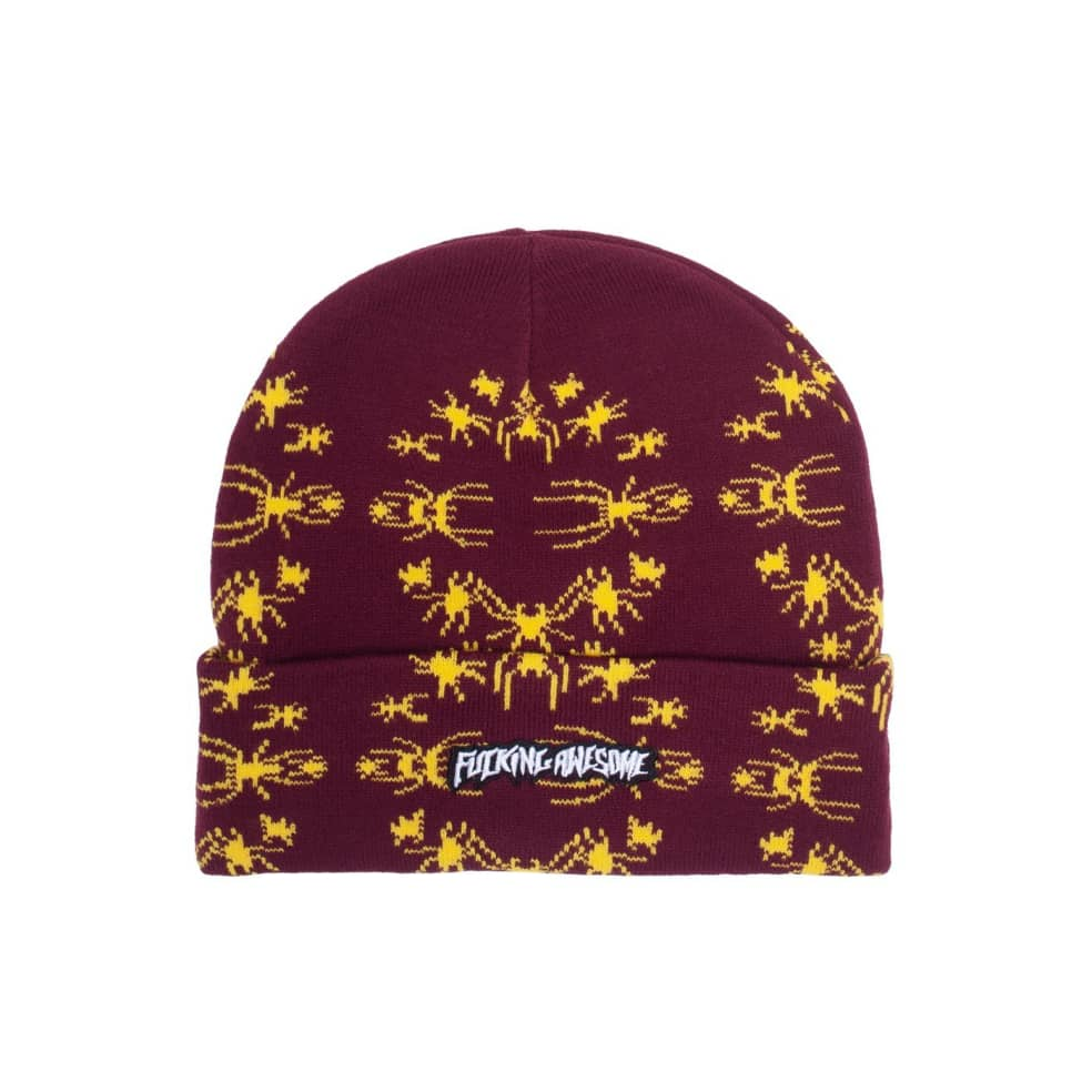 Fucking Awesome Spider Stamp Cuff Beanie - Maroon | Beanie by Fucking Awesome 1