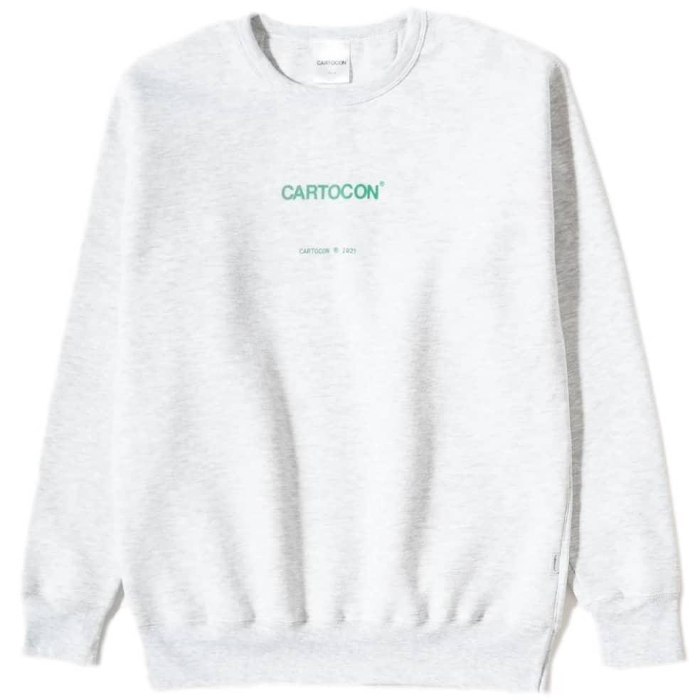 CARTOCON Logo Crew Neck Sweatshirt - Light Grey | Sweatshirt by Cartocon 1