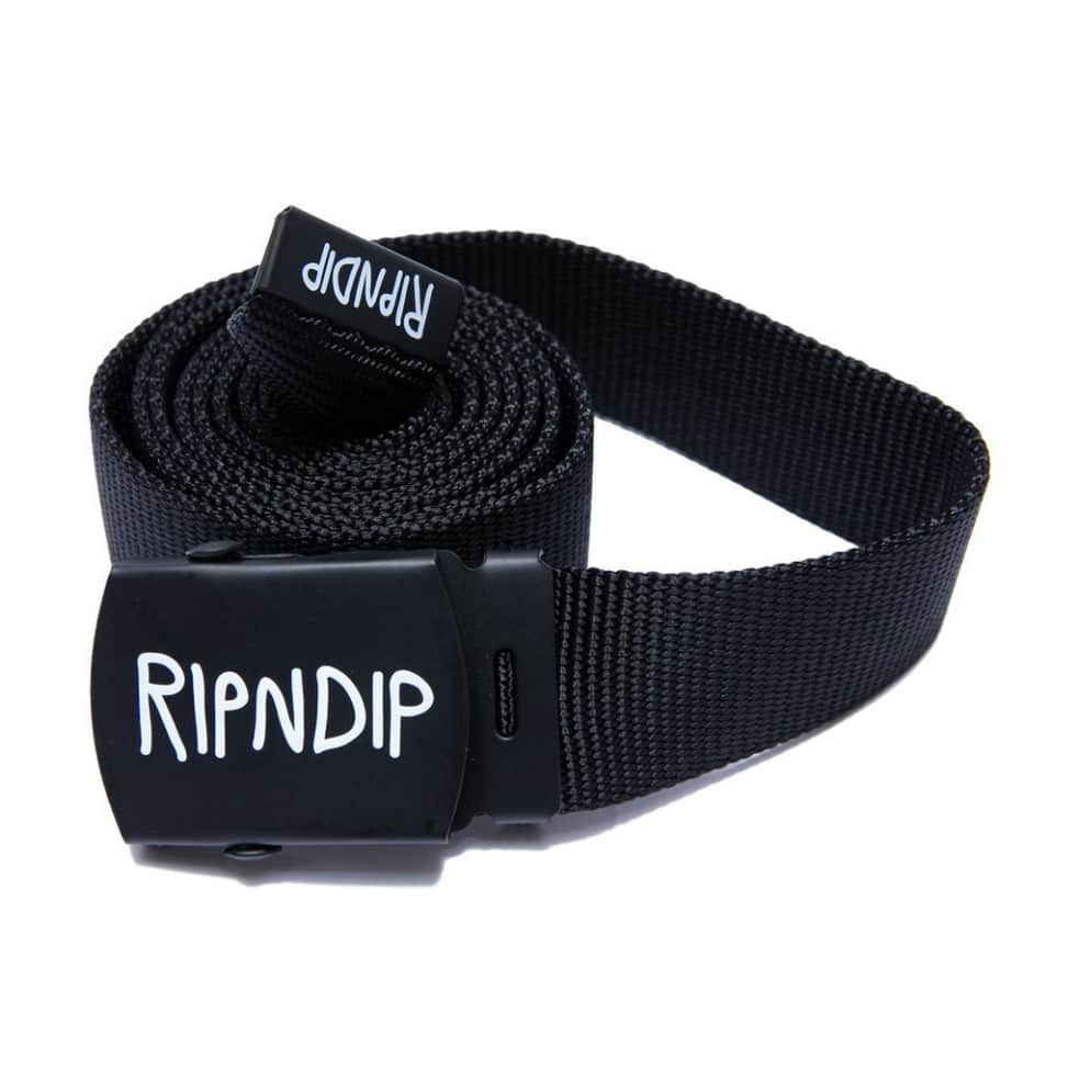 Ripndip Logo Belt - Black | Belt by Ripndip 1
