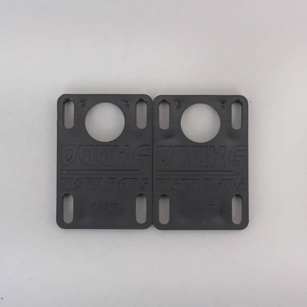Shorty's Dooks 1/4 Riser Pads Black | Riser Pads by Shorty's 1