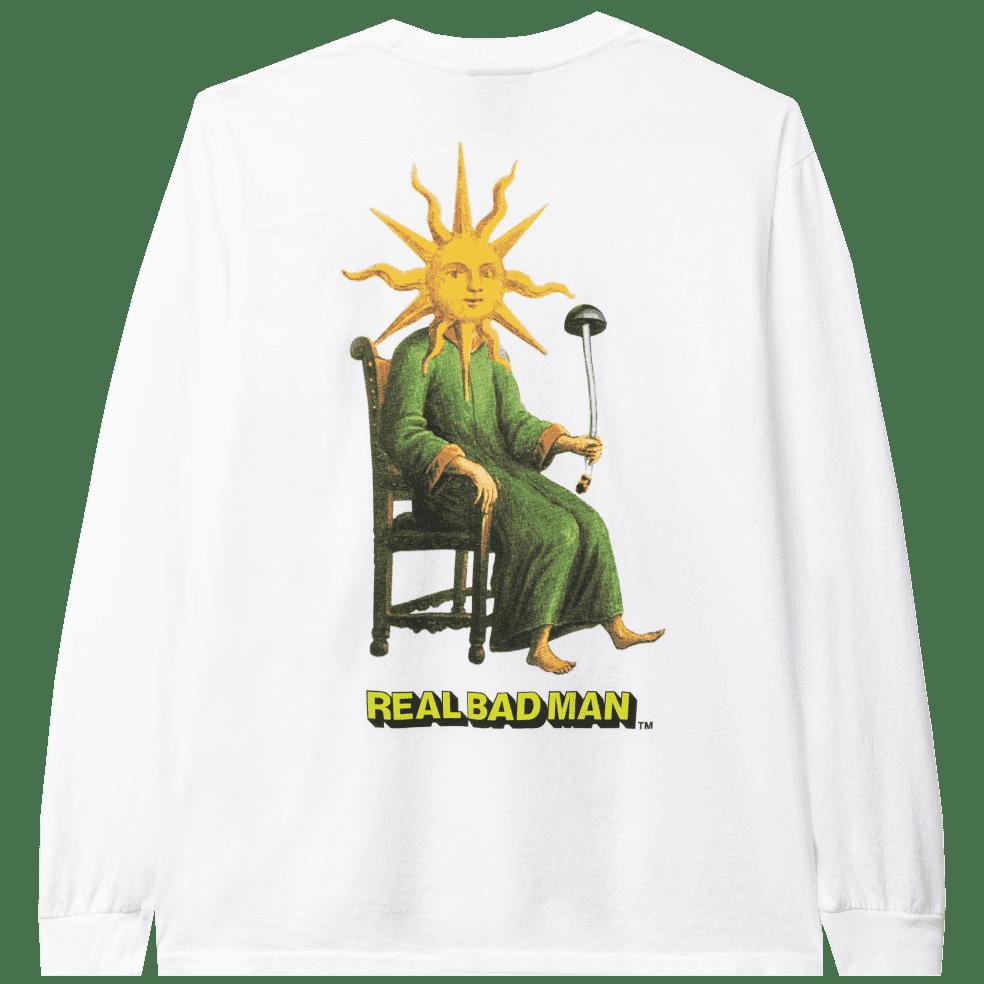 Real Bad Man Sun God Long Sleeve T-Shirt - White | T-Shirt by Real Bad Man 1