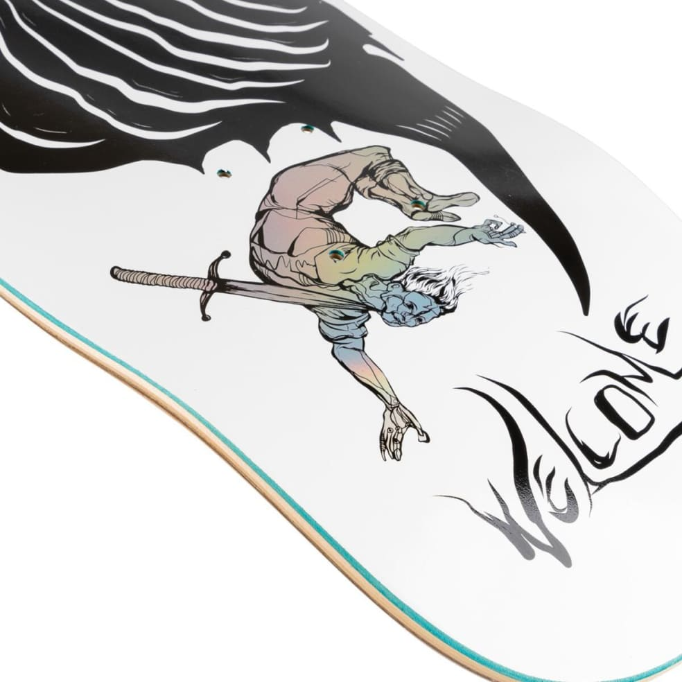 """Welcome Isobel on Stonecipher Deck 8.64"""" (White/Prism Foil) 