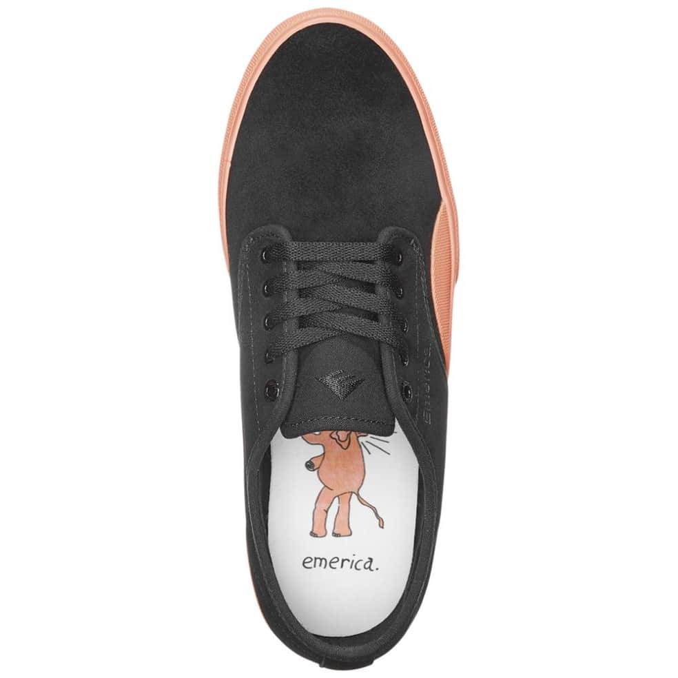 Emerica Wino Standard Skate Shoes - Black / Pink | Shoes by Emerica 3