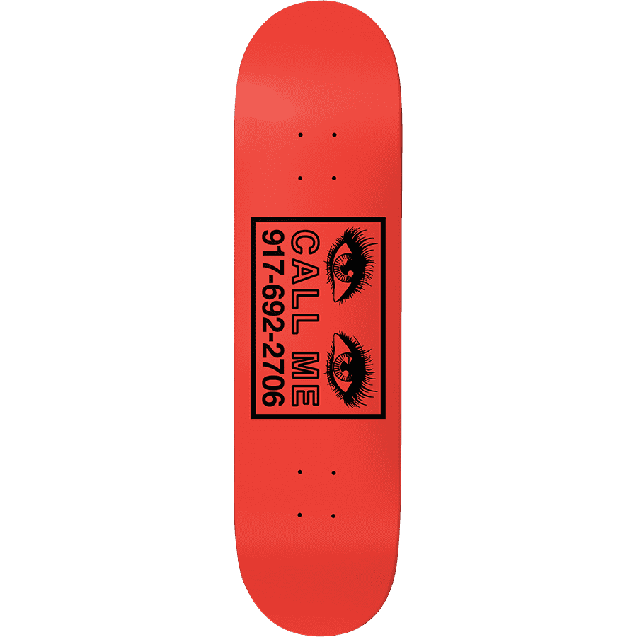 """Call Me 917 Eyes Skateboard Deck Red - 8.5""""   Deck by Call Me 917 1"""