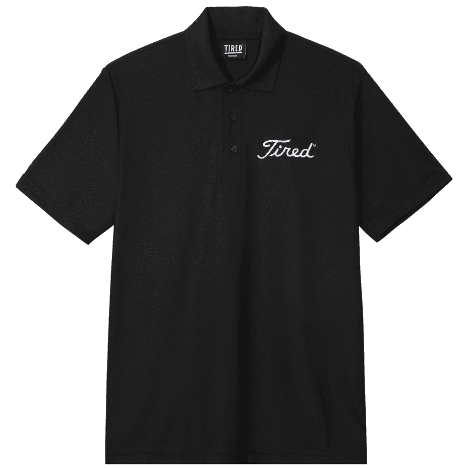 Tired Golf Polo Shirt - Black   Polo Shirt by Tired Skateboards 1