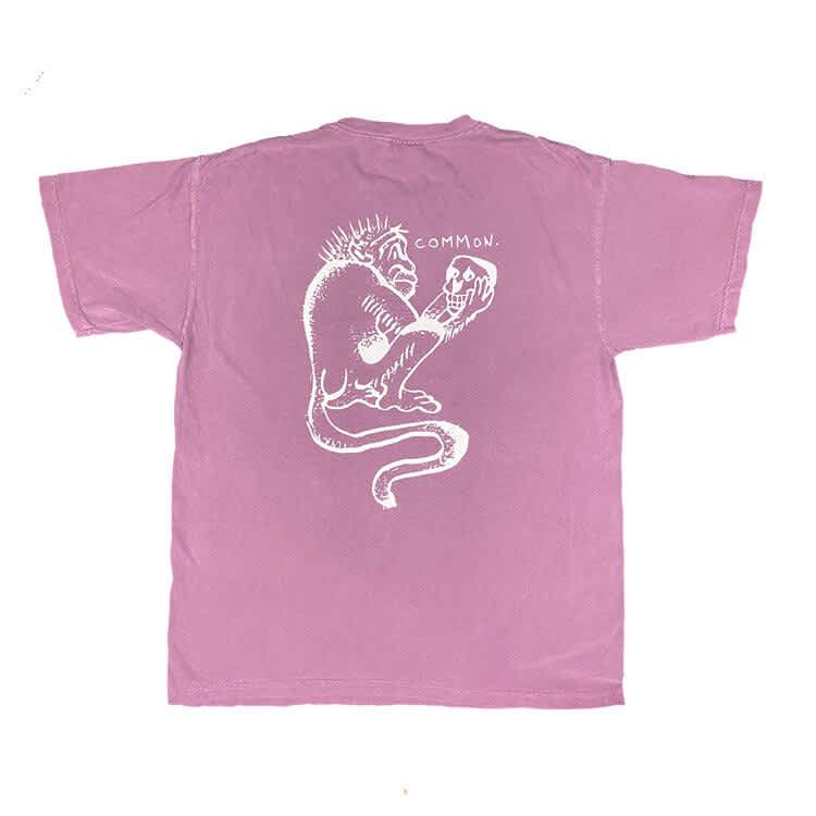 Common Monkey See Mokey Do Tee - Berry   T-Shirt by Common Apparel 2