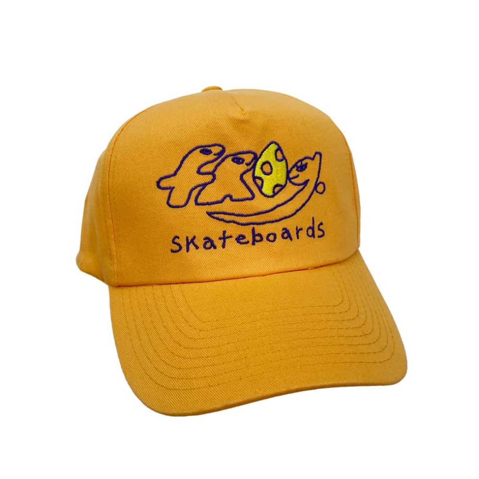 Frog Dino Logo 5-Panel Hat - Yellow | Snapback Cap by Frog Skateboards 1