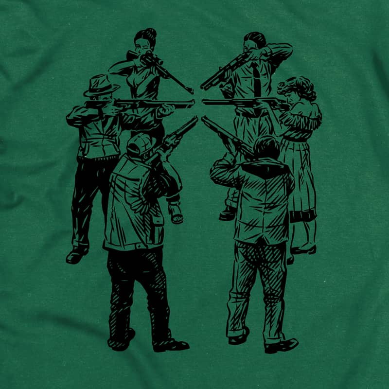 Slave Only Human Circle of Death T-Shirt (Forest Green) | T-Shirt by Slave Skateboards 2