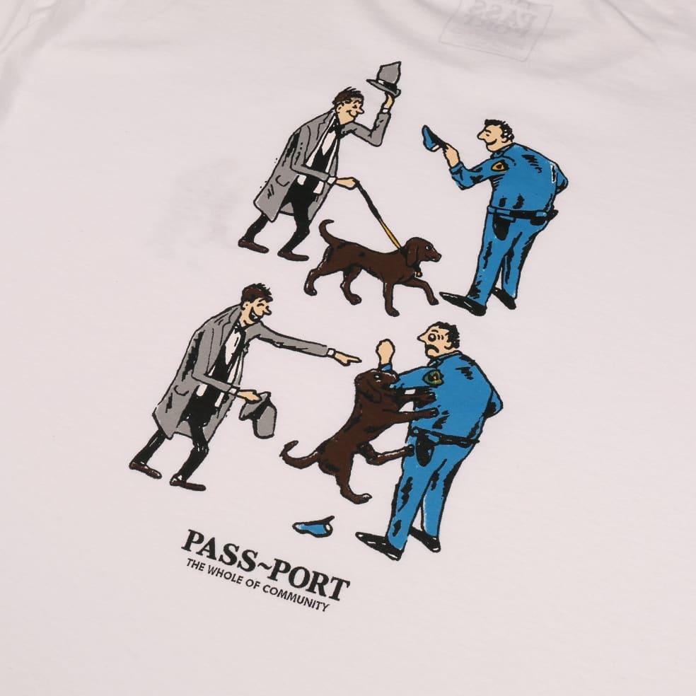 Pass~Port Friendly K9 T-Shirt - White | T-Shirt by Pass~Port Skateboards 3