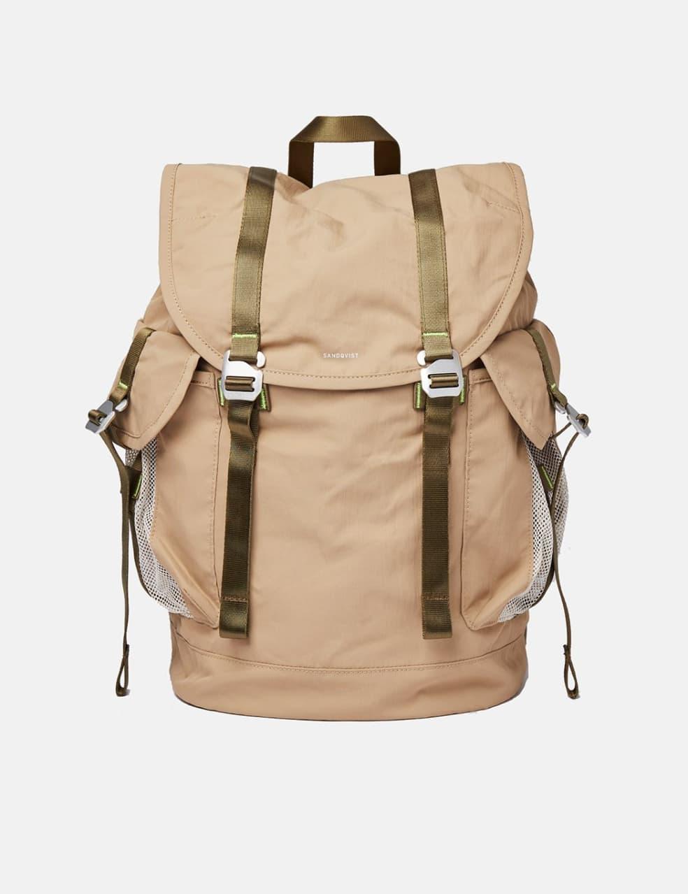 Sandqvist Charlie Backpack (Vegan) - Beige   Backpack by Sandqvist 1