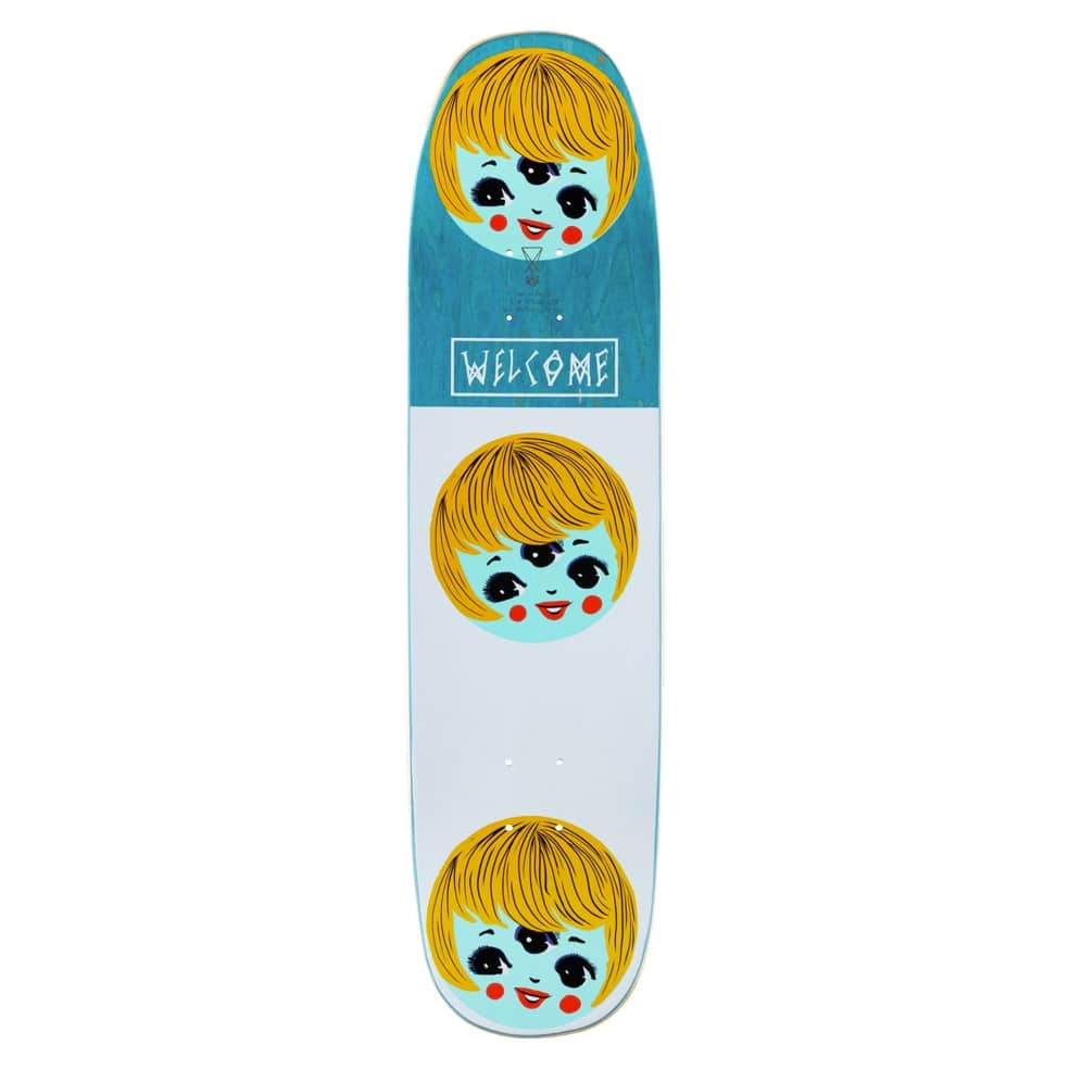 """Welcome Peggy on Son of Moontrimmer Black Skateboard Deck - 8.25"""" 