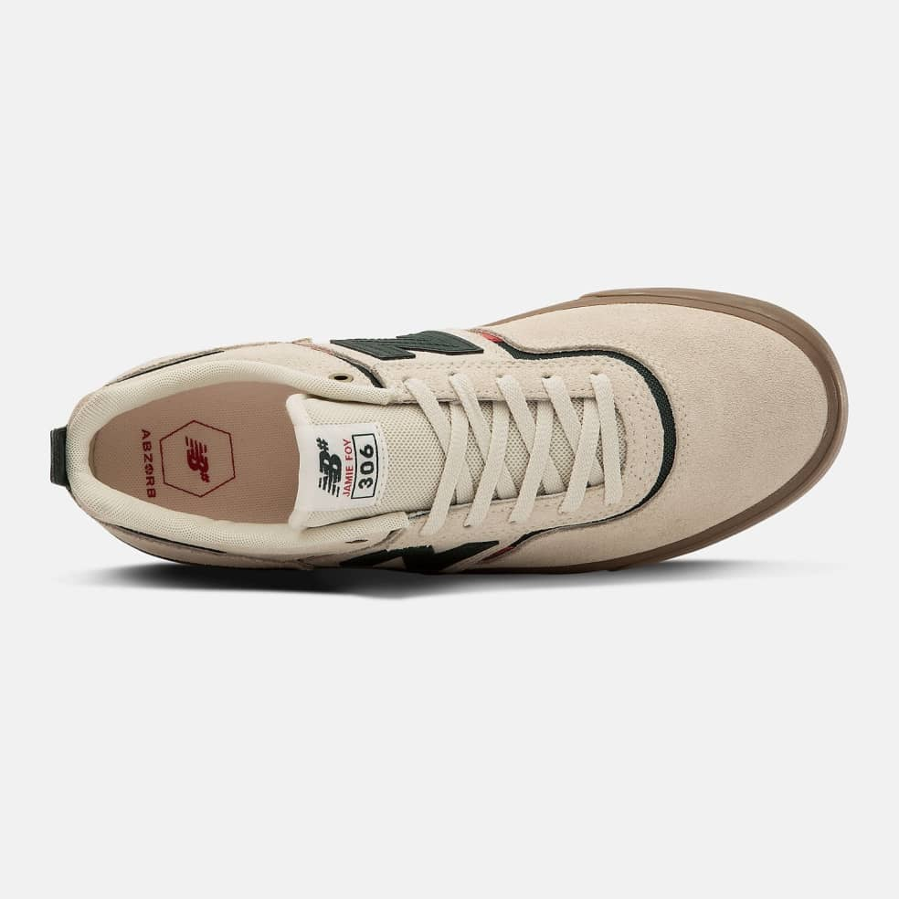 New Balance Numeric 306 Shoes - White / Green   Shoes by New Balance 2